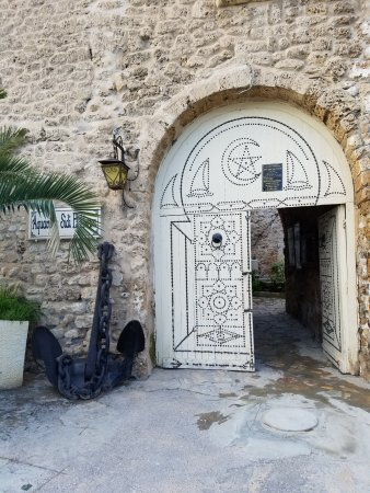Bizerte, Tunisia: The door to the museum