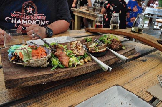 Wild Earth Outdoor Kitchen & Cellar Door: The tasting platter