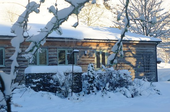 Llanbrynmair, UK: Cottage in the snow