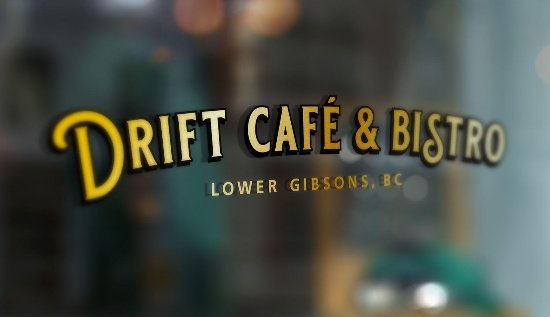 Gibsons, Kanada: Drift Cafe Window