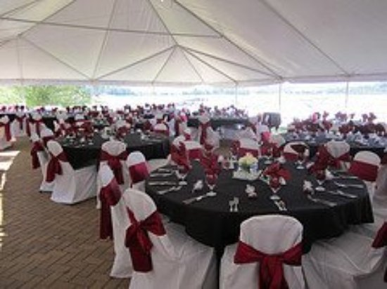Wedding Reception On The Anchor Patio Under A Tent And Overlooking