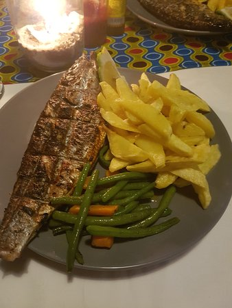 Mangochi, Malawi: fish supper - there was also a salad