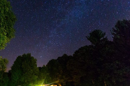 Dummerston, VT: View of Milky Way in the campground