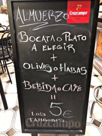 Aspe, Испания: Prueba Nuestra oferta de almuerzos