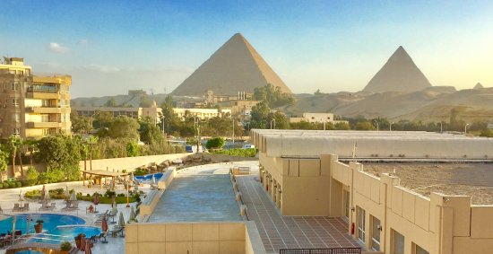 Le Meridien Pyramids Hotel & Spa: The view from our room