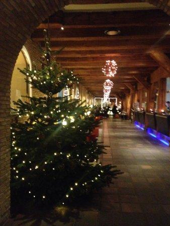 Copenhagen Admiral Hotel : Foyer - beautiful wooden beams & Xmas lights with tree