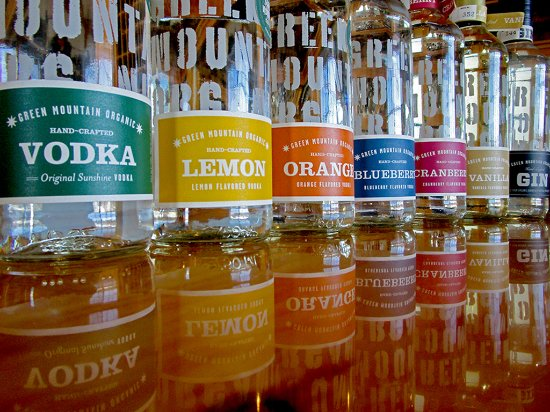 Morrisville, Βερμόντ: The distillery produces a variety of flavors to sample.
