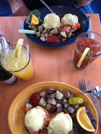 Lobster for breakfast!