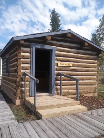 Dubois, WY: Homestead cabin, one of the historic buildings on the Museum property