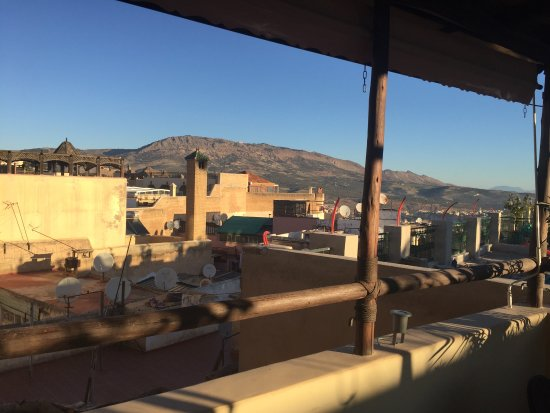 Riad Anata: Breakfast view from the rooftop. Great in the early evening as well