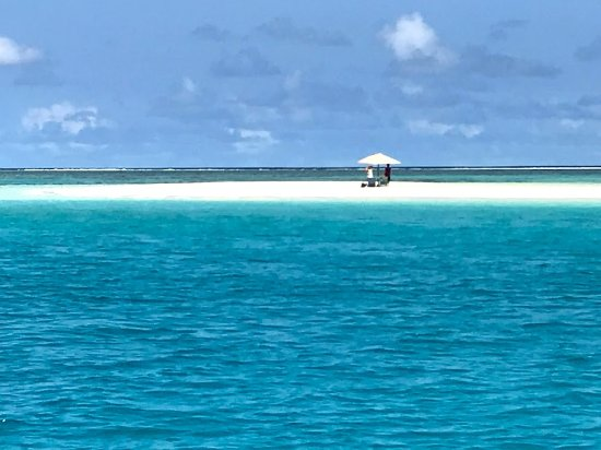 """Beqa Island, Fiji: Afternoon excursion to """"Secret Island"""" a sand bar island about 30 minutes away by boat."""
