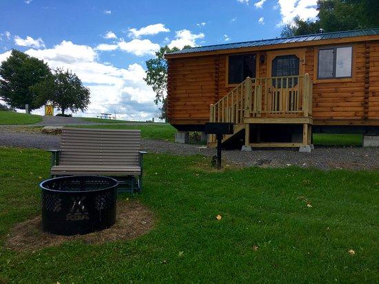 Richfield Springs, Nowy Jork:  Deluxe log cabins sleep up to 6