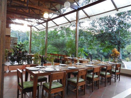Napo Province, Ecuador: open air dining room