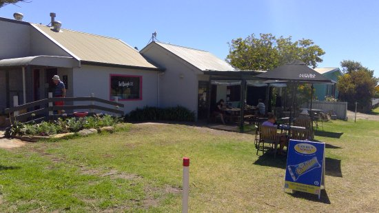 Penneshaw, Austrália: Fat Beagle Cafe - relaxed indoor and outdoor eating
