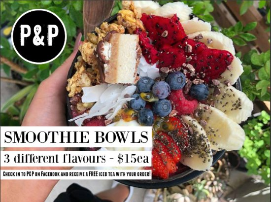 Atherton, Australia: We are obsessed with smoothie bowls and have 3 different flavours permanently on our menu.