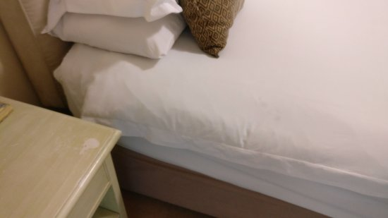 Craigrownie Guest House: Subtle stains on the bedding