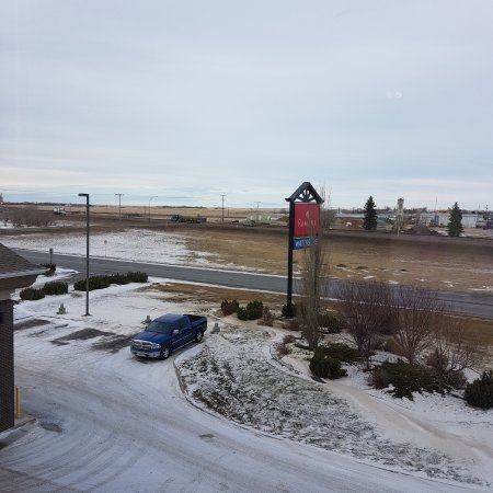 Weyburn, Canada: My truck outside view from my room