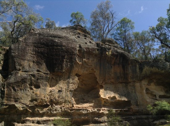 The Drip Gorge: cliff face
