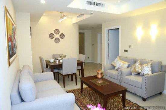 Living Room In The Centaurus Serviced Apartments Behind View