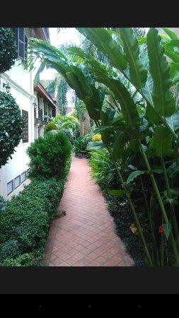 Villa Saykham: Pretty garden area to have breakfast or just sit in