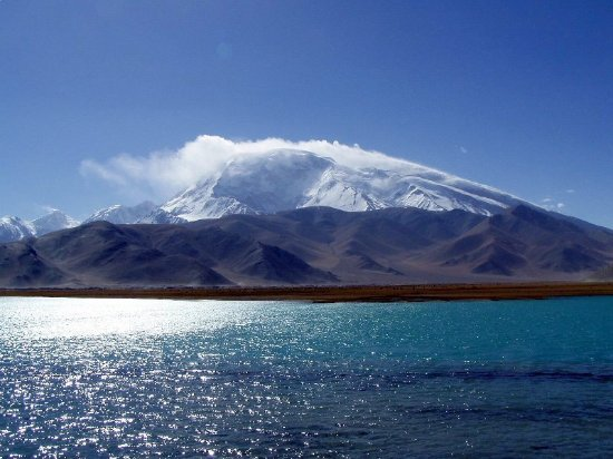 Kashi, China: Muztagh Ata and Lake Karakul