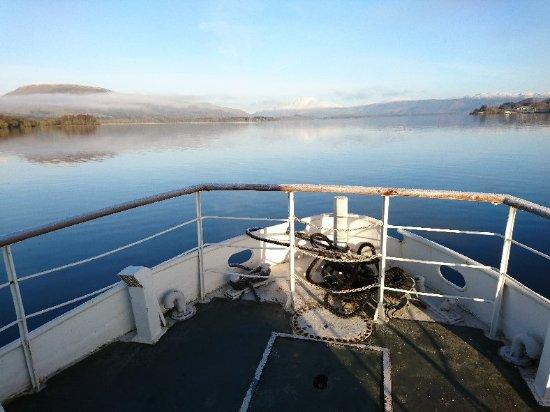 Luss, UK: Loch Lomond  boat trip in January 2018