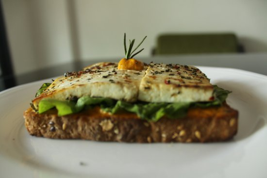 roasted cottage cheese open sandwich picture of tien pune rh tripadvisor com au