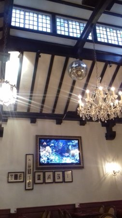 The White Hart: Glitterballs in the Rafters