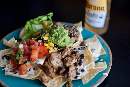 Locust Grove, Géorgie : Chicken Nachos with Guacamole