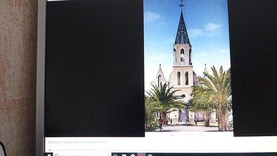 Gabes, Tunisia: une photo de l'église de Gabès datant de 1950