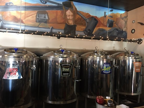 Boulder Dam Brewing Company: beer tank