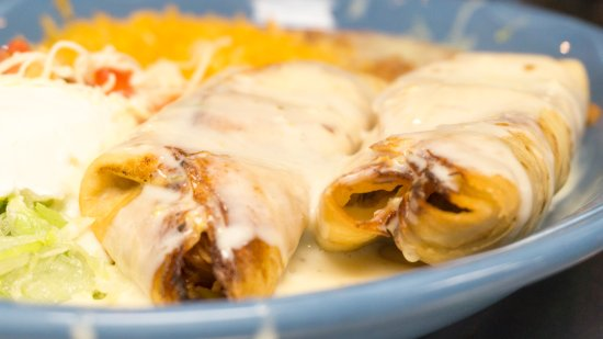 Mendota Heights, MN: Chimis is a fried flour tortilla stuffed with shredded beef, chicken, or ground beef.