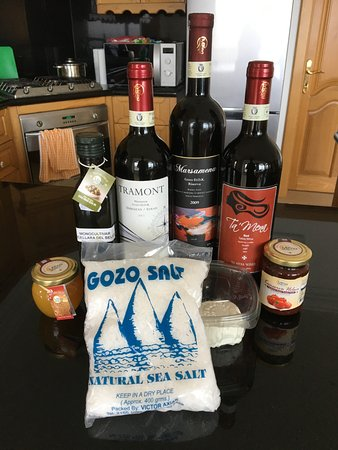 Xaghra, Malta: Our haul of goodies from Ta Mena