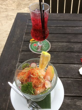 Titikaveka, Cook Islands: Prawn cocktail