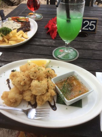 Titikaveka, Cook Islands: Salt and pepper squid