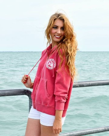 It can get chilly by the lake. Stop in for a colorful custom made hoody Downtown New Baltimore M