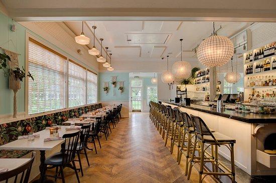 Wolffer Kitchen Amagansett Dining Room Bar