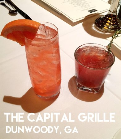 Dunwoody, GA: Capital Grille's Grapefruit Buck and Raspberry Sidecar