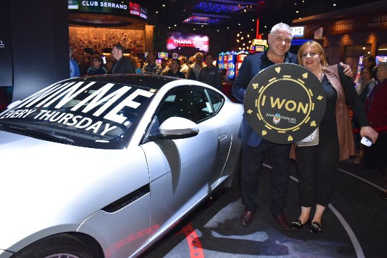 Highland, CA: Club Serrano member Robert won a Jaguar F-Type at San Manuel Casino on Jan. 18, 2018.