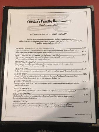 Bilde fra Veroba's Family Restaurant