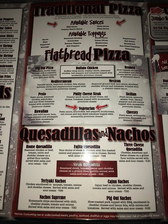 Vandalia, OH: menu