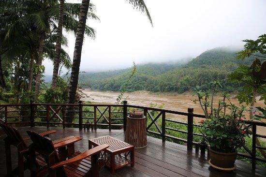 Pakbeng, Laos: misty morning views
