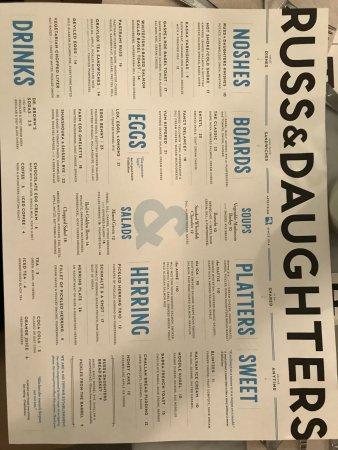 The Jewish Museum: menu