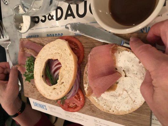 The Jewish Museum: smoked tuna and bagels