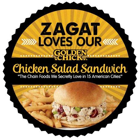 Aubrey, Teksas: Home of The Original Golden Tenders™, Golden Chick is a fast food restaurant chain offering Gold