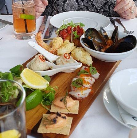 entree: share platter... $$$ but lovely :-)