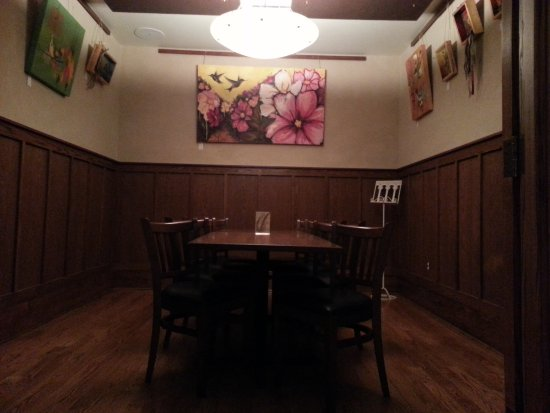 Wheat Ridge, CO: our private dining room / Artist's corner