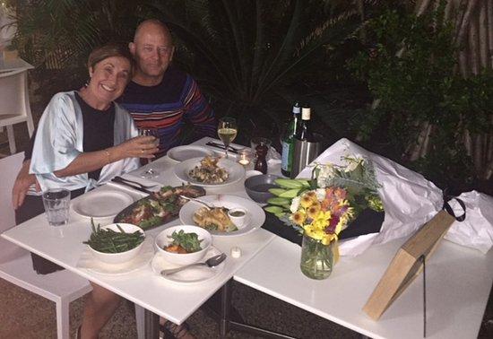 Coolum Beach, Australia: A very special dinner!