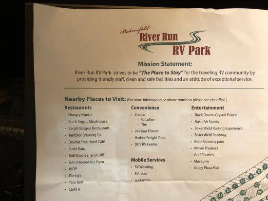 Bakersfield River Run RV Park: INFO