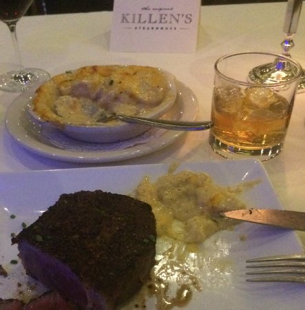 Pearland, Техас: Dry Aged ribeye and Au Gratin Potatoes